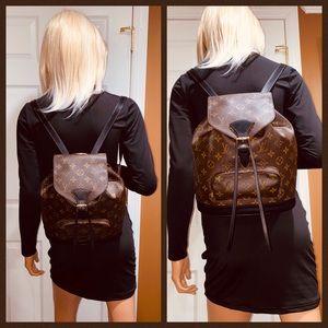 😻😻😻Authentic Louis Vuitton Montsouris MM Backpack